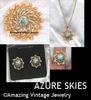 AZURE SKIES Set - 1972 - Pin & Necklace available