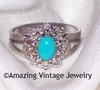 AQUA TREASURE Ring - Size 8