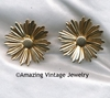 SUNFLOWER Earrings - Goldtone