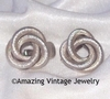 SARAH'S CIRCLE Earrings - Silvertone