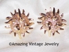 SEA URCHIN Earrings - Goldtone