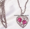 LOVE STORY Necklace - October - Rose Zircon
