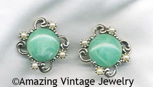 FIESTA Earrings - Emerald Green