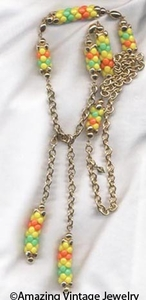 CAROUSEL Necklace Yellow & Orange
