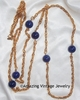 Victoria Blue Necklace - Chain