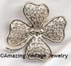 FILIGREE CLOVER Pin
