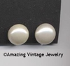 BUTTON PEARL Earrings - Large