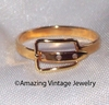 BUCKLE Ring - Goldtone