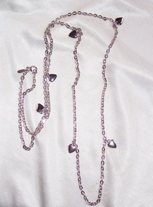 PARTY HEARTS Necklace - Silvertone - 1 Strand