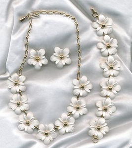 Snow Flower Necklace & Earrings
