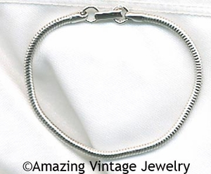 FASHION ROPE Bracelet Silvertone