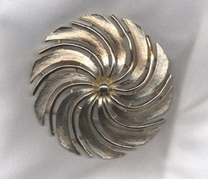 GOLDEN SWIRL Pin
