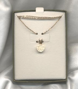 GENUINE IVORY ROSE Necklace