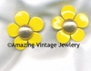 FLOWER FLATTERY Earrings - Yellow