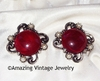 FIESTA Earrings  - Strawberry Red
