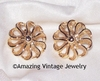 FASHION-ROUND Earrings - Goldtone