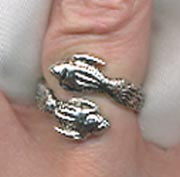 WRAP AROUND ZODIAC Ring - Pisces