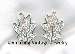 FROSTED LEAVES Earrings