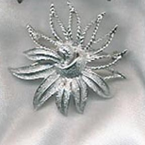 Demi-Flower Pin - Silvertone