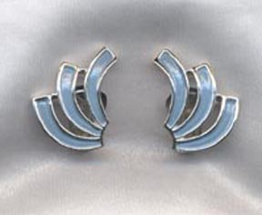 SWIRL OF FASHION Earrings Blue