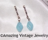 HOLIDAY Earrings Dangles Blue