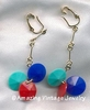 HULABALOO Earrings Red, Blue, Green