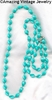 HOLIDAY BEADS Necklace - Bermuda Blue