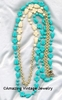 HOLIDAY GARDEN Necklace - Aqua/Eggshell