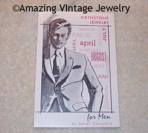 BIRTHSTONE JEWELRY FOR MEN pamphlet