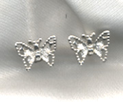 MADAME BUTTERFLY Earrings - Silvertone
