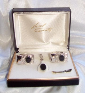 OXFORD Tie Tac & Cufflinks