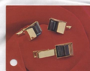 CAVALIER Cuff Links & Tie Bar
