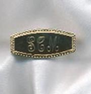 MONOGRAM BAR Pin