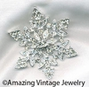 CRYSTAL SNOW FLAKES Pin