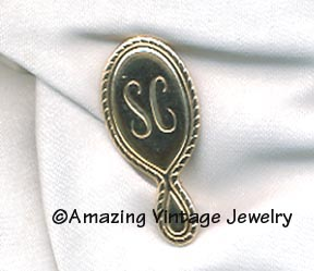 SC Mirror Pin goldtone