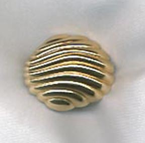 Ribbed Goldtone Scarf Ring