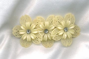 Yellow Flowers Hair Clip