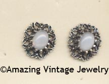 ANTIQUE MOONSTONE Earrings