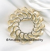 FASHION ROUND Pin - Goldtone