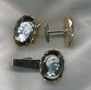 Queen of the Nile Tie Bar/Cuff Links