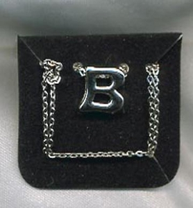"SCHOOL DAYS Necklace - Silvertone ""B"""