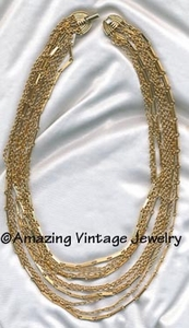 CHIFFON Necklace - Goldtone