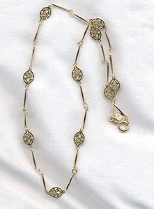 INFINITY Necklace - Goldtone