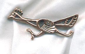 Copper Roadrunner Pin