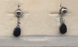 ONYX TEARS Earrings - Screwback
