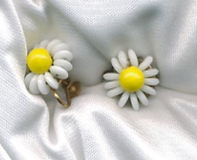 Yellow/White Earrings