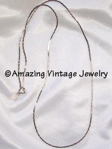 COBRA CHAIN Necklace - Silvertone - 18""