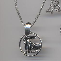 SILVERY ZODIAC Necklace - Capricorn