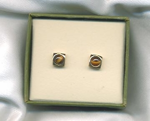 GENUINE TIGER EYE Earrings