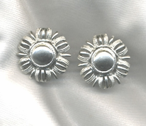 Coro earrings - Silvertone